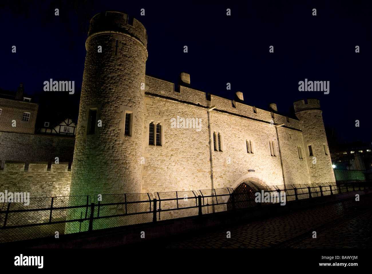 Tower of London at night - Stock Image
