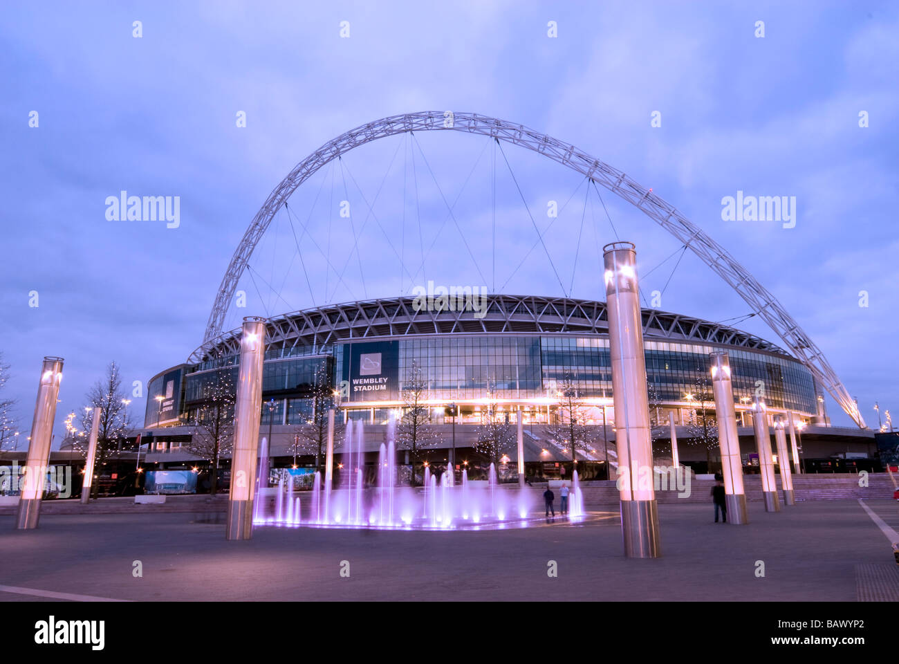 England, London, Brent, Wembley stadium Dusk - Stock Image