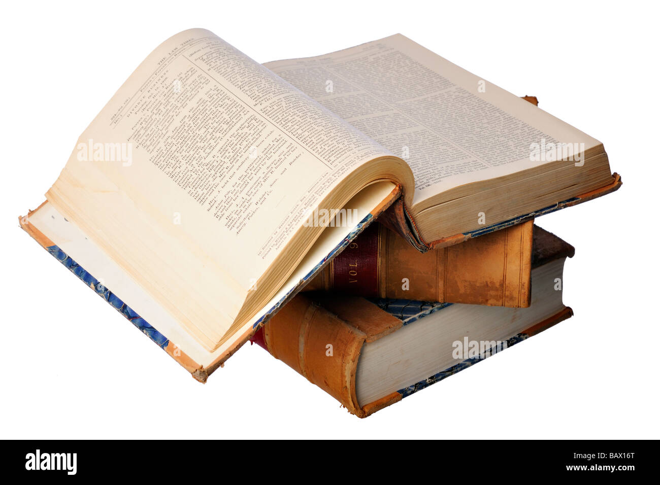 Old law books - Stock Image