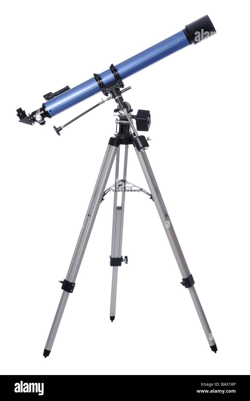 Telescope on tripod - Stock Image