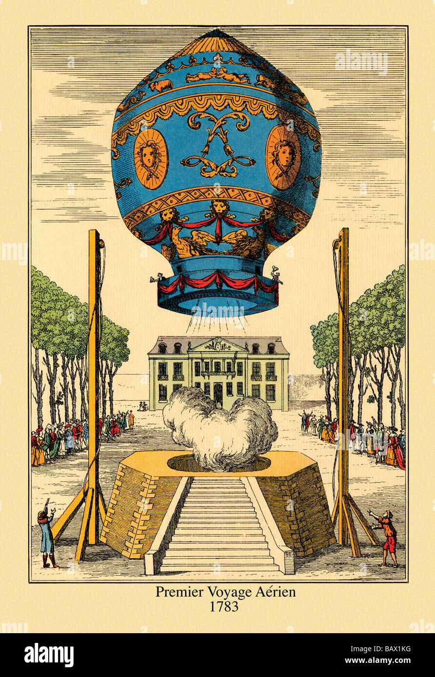 Premier Voyage Aerien,1783 - Stock Image