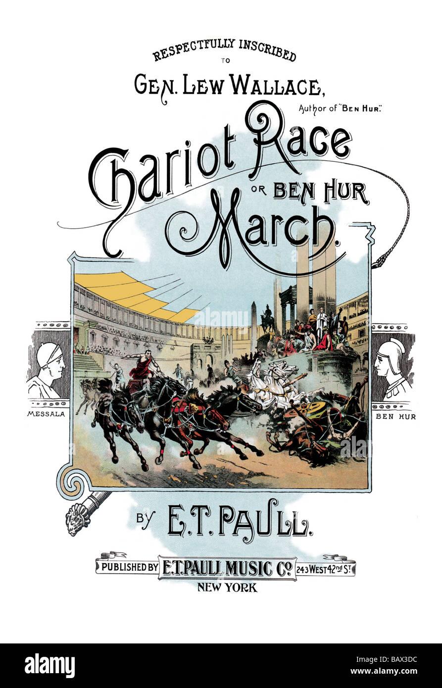 ben hur chariot race piano sheet music