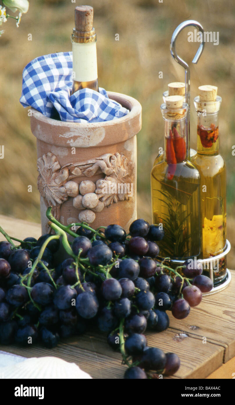 Wine, oil and viinegar - Stock Image