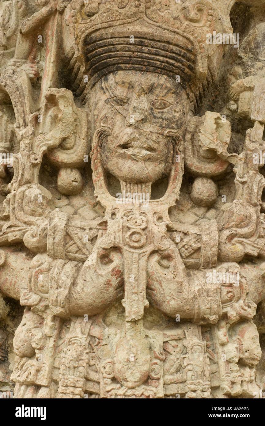 Copan Ruinas Maya archaeological park, Honduras. - Stock Image