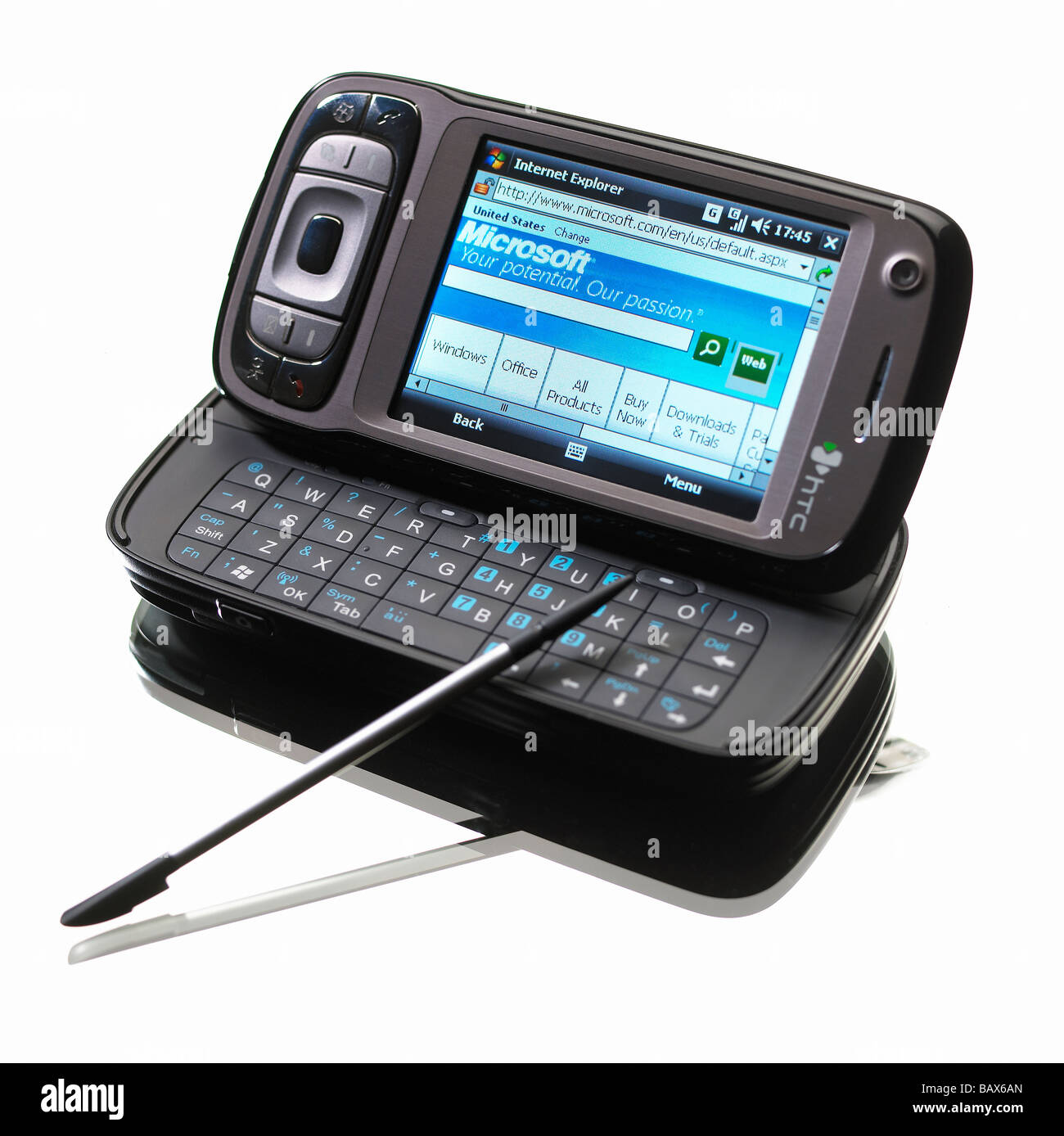 MOBILE PHONE PDA INTERNET ACCESS - Stock Image
