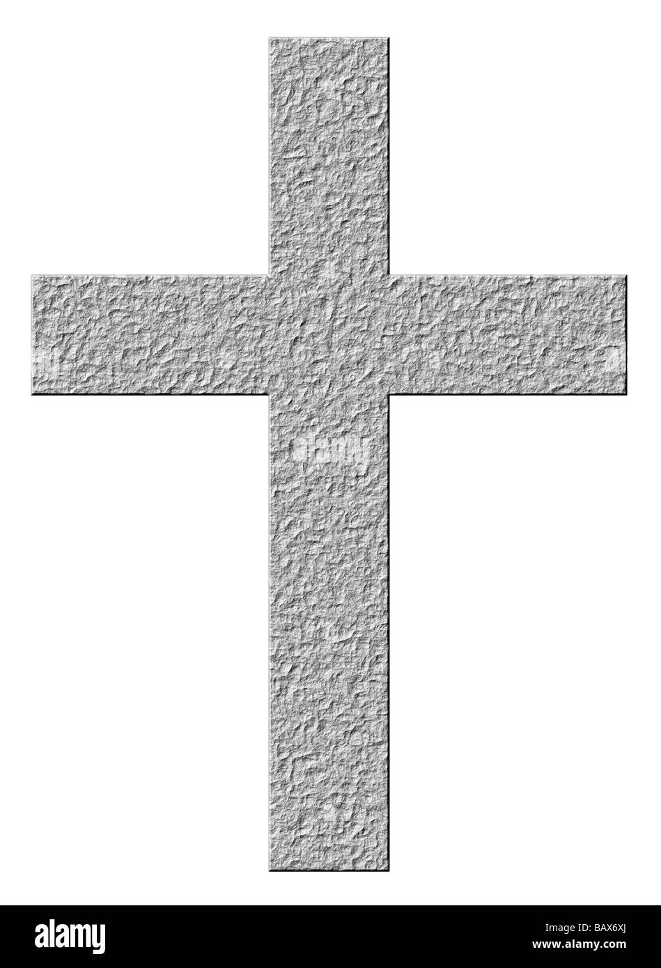 3d stone cross - Stock Image