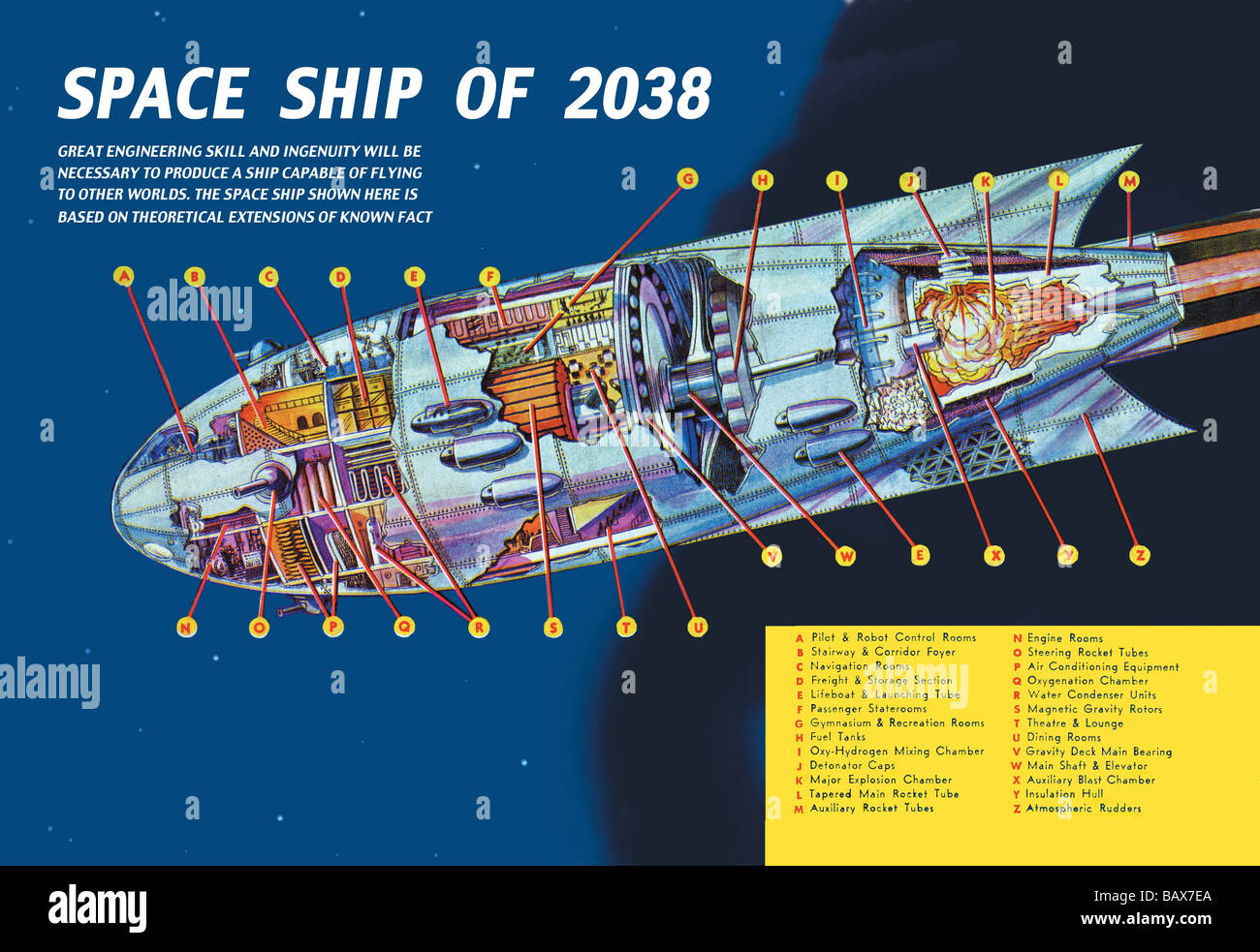 Space Ship of 2038Stock Photo