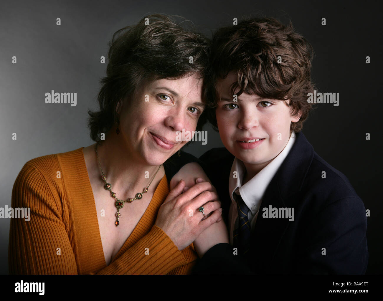 A mother and child portrait. Motherhood - Stock Image