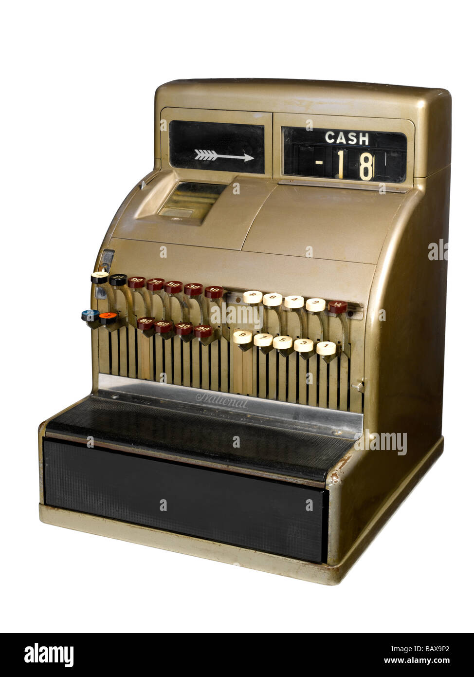 An old fashioned cash register - Stock Image