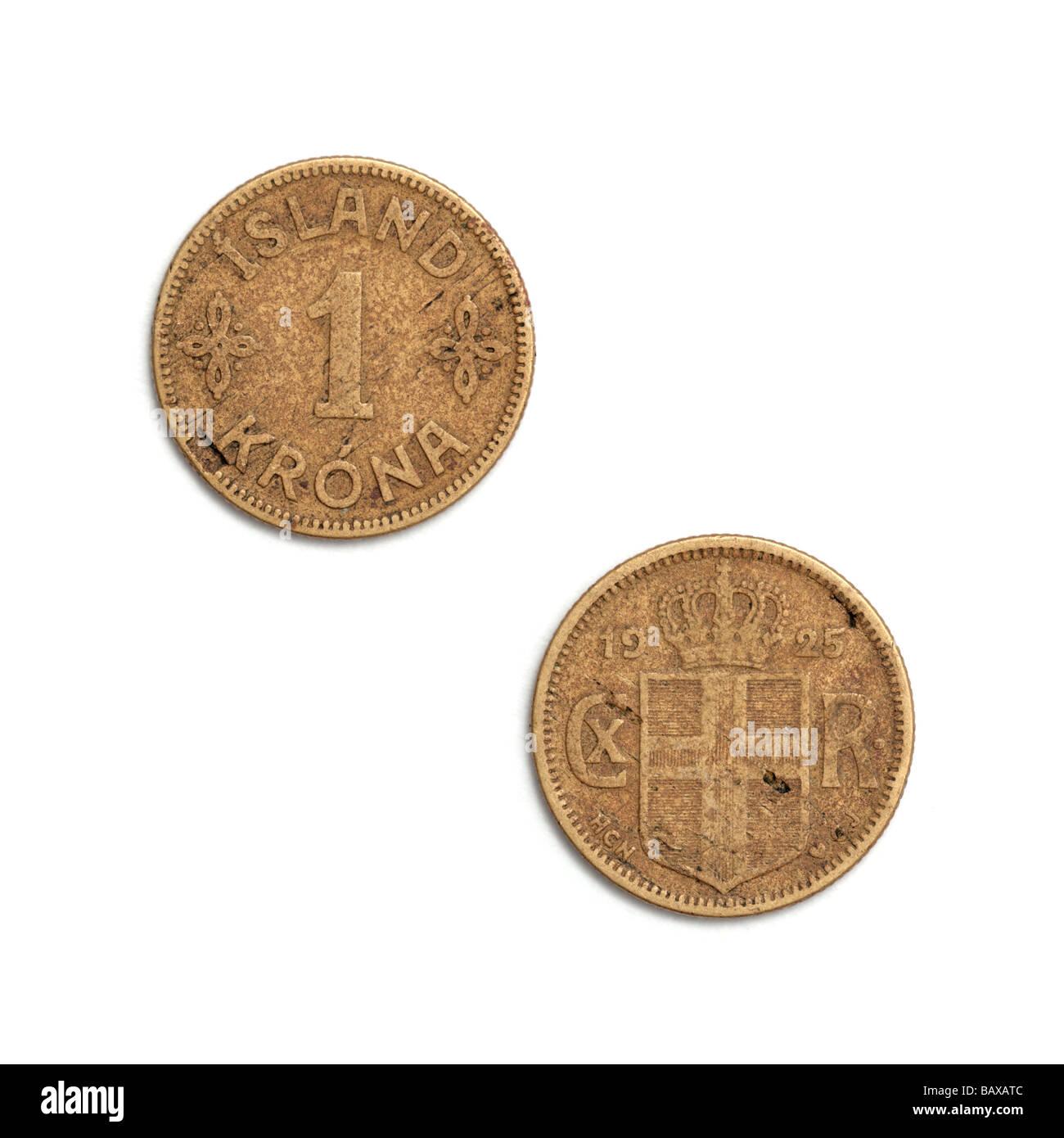 'Iceland krona' - Stock Image
