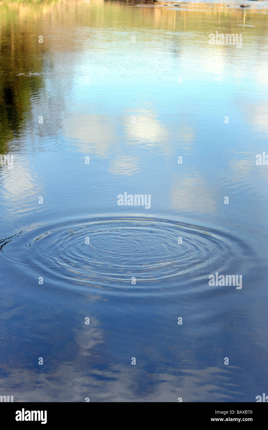 A ripple in a river Yorkshire Dales UK - Stock Image