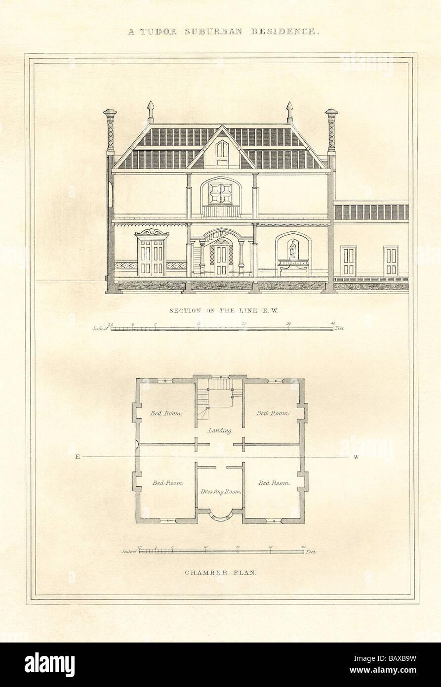A Tudor Suburban Residence #2 - Stock Image