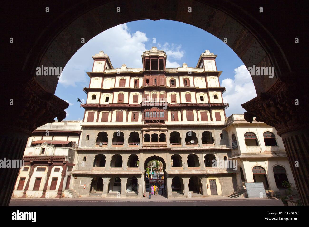 Raj Wada Mansion in Indore Madhya Pradesh India - Stock Image