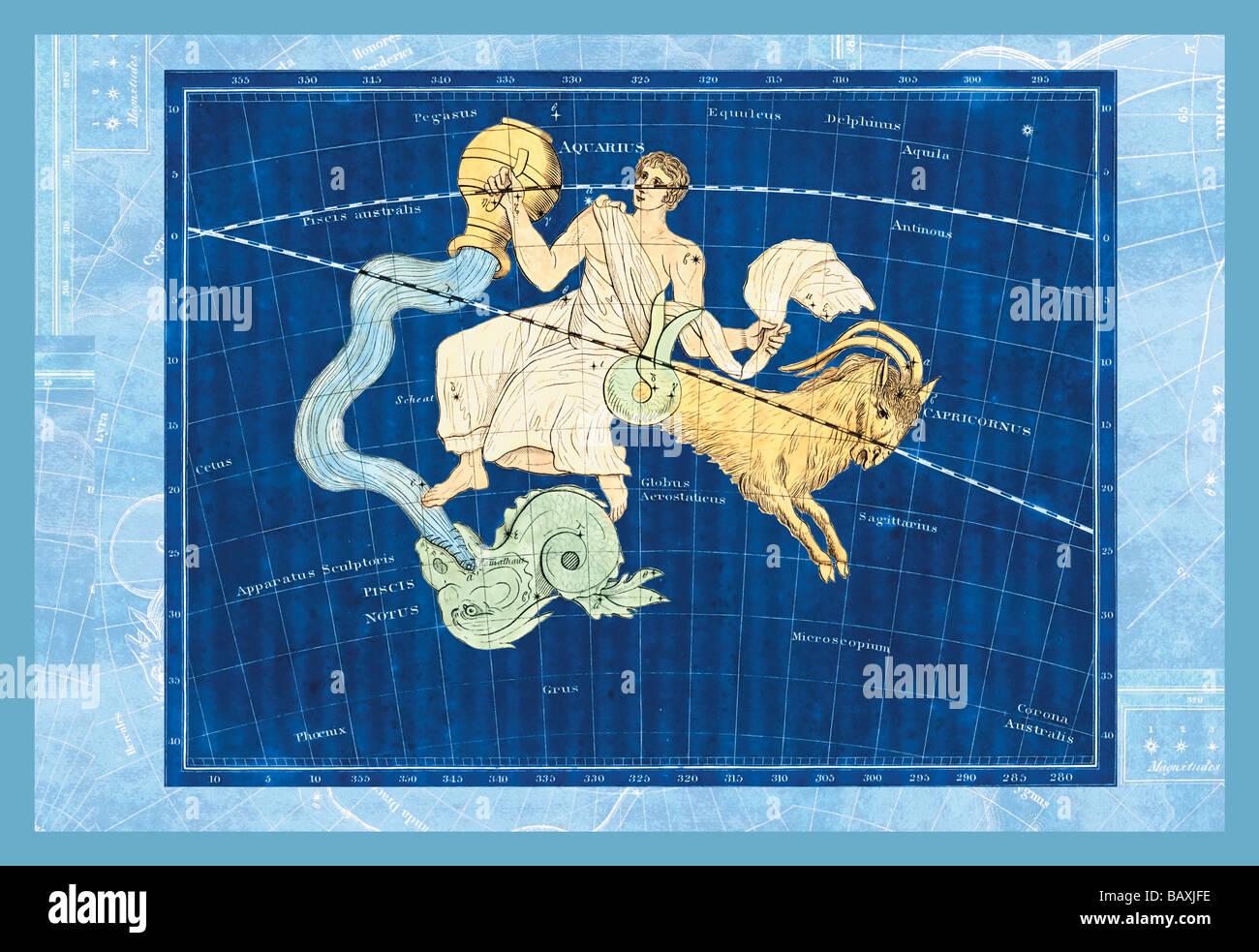 Capricorn and Aquarius #1 - Stock Image