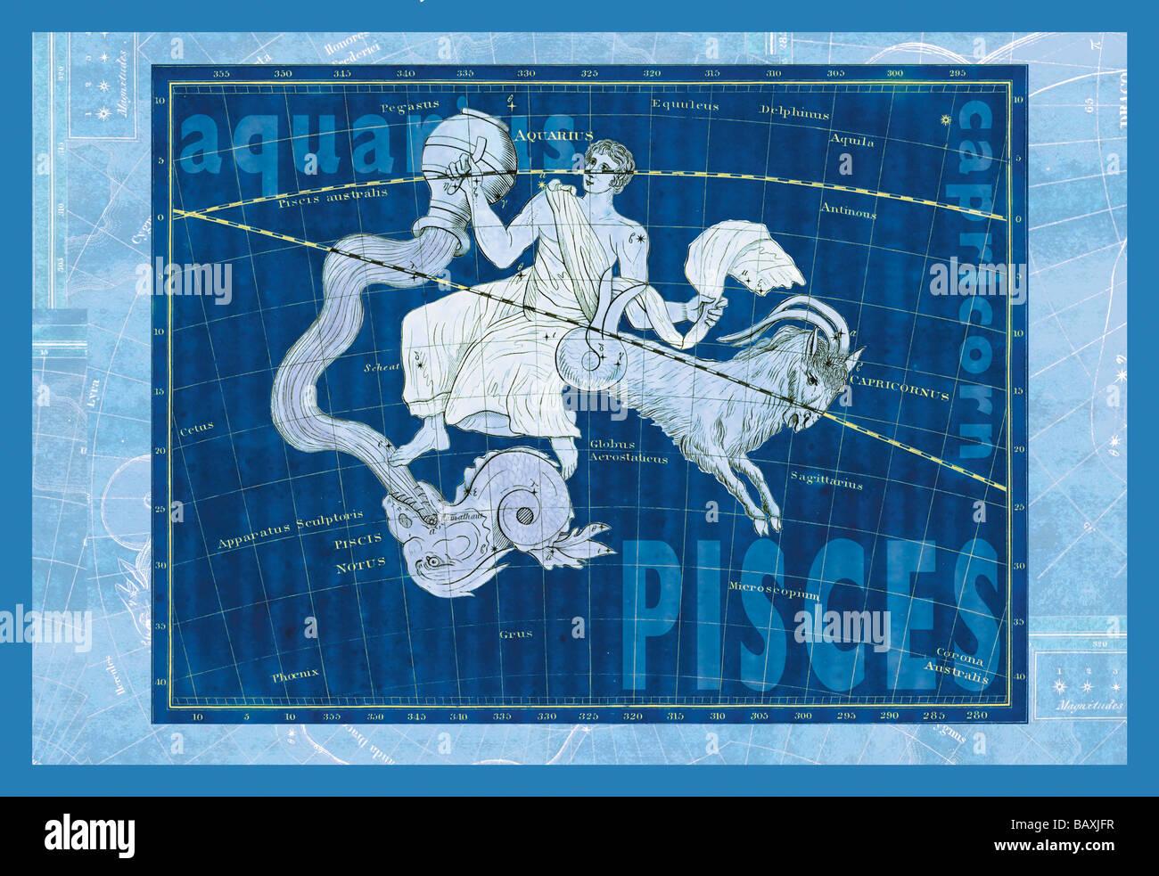 Capricorn and Aquarius #2 - Stock Image