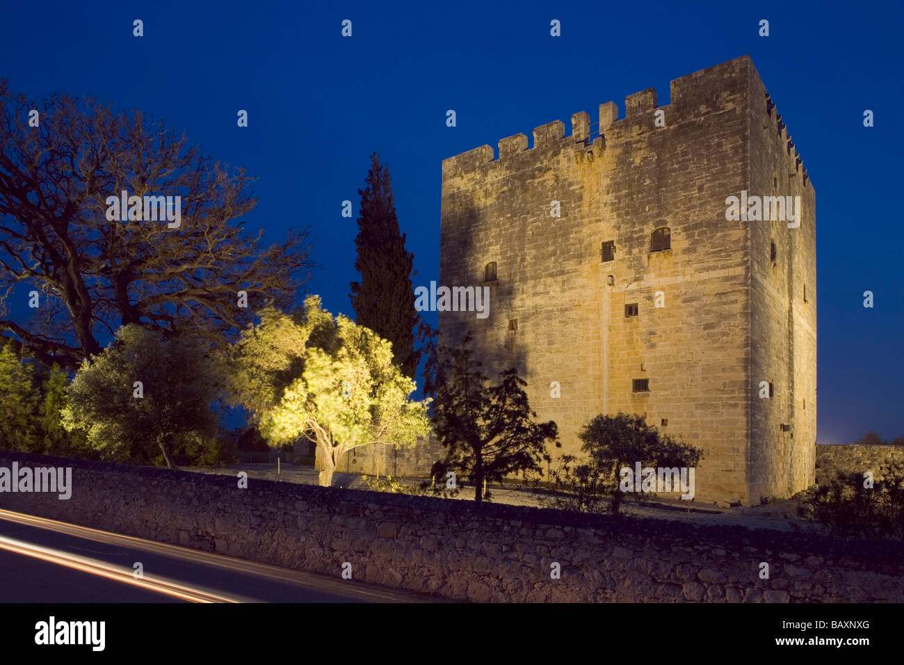 Castle built by the Order of St. John, 15th century, Kolossi, Limassol district, South Cyprus, Cyprus - Stock Image