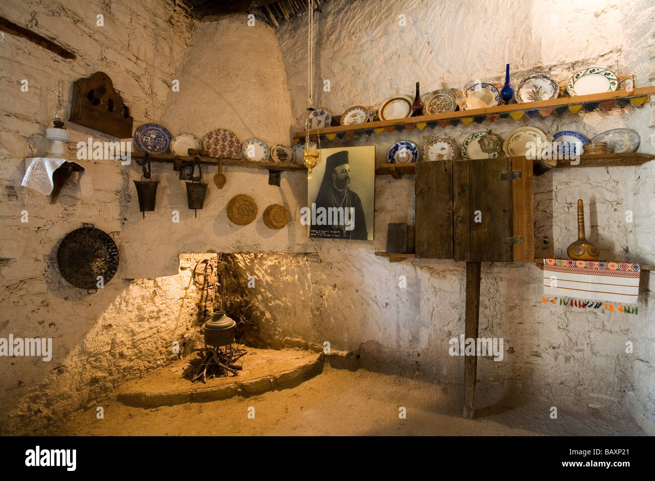 Birthplace of President Makarios, museum, Pano Panagia, Troodos mountains, South Cyprus, Cyprus - Stock Image