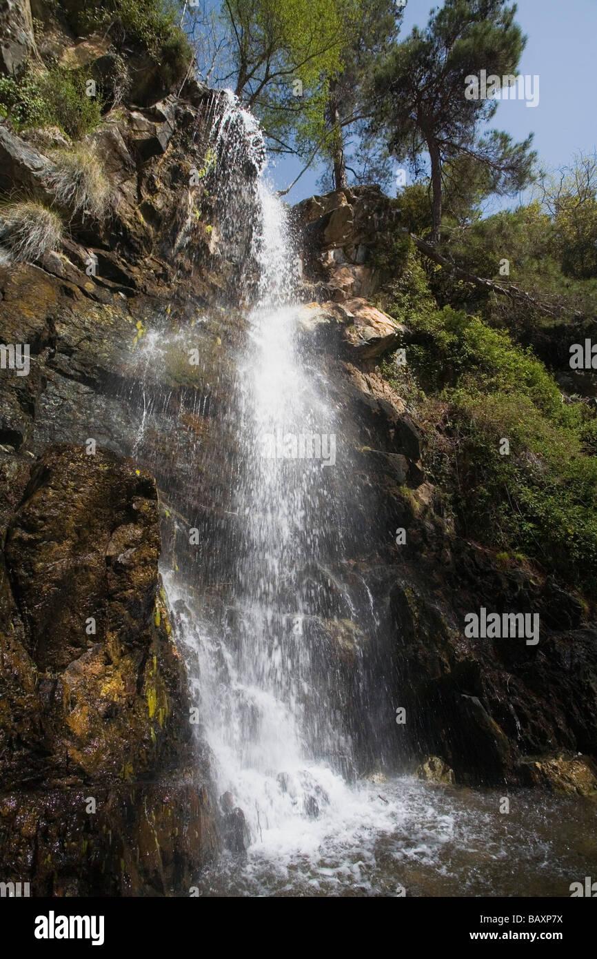 Kaledonia Waterfalls, near Pano Platres, Troodos mountains, South Cyprus, Cyprus - Stock Image