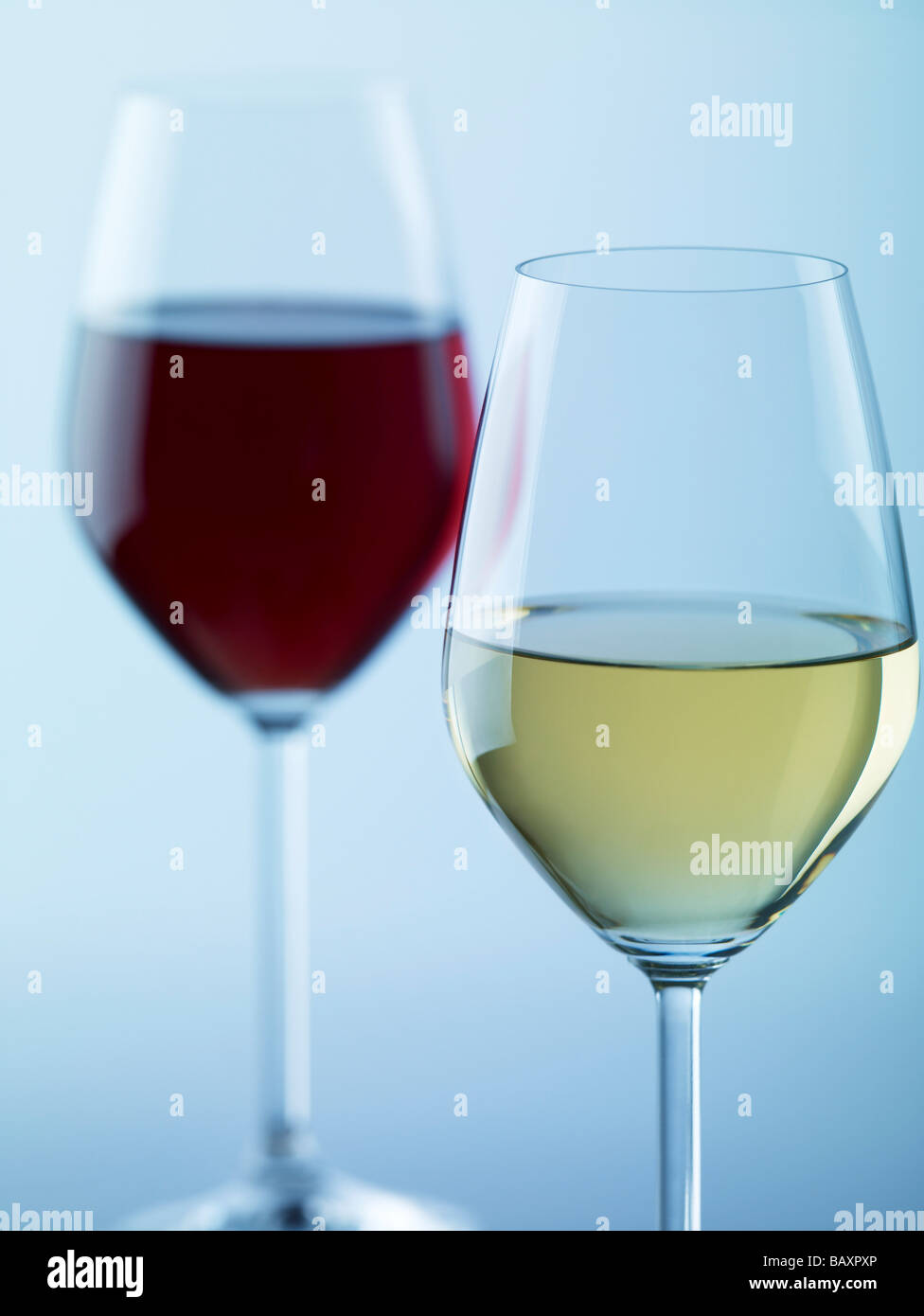 Glasses of wine - Stock Image