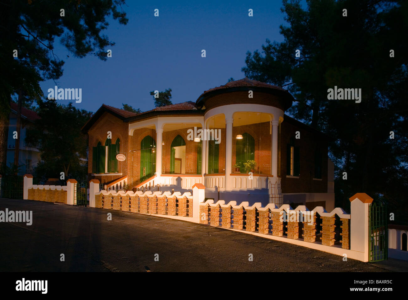 Semiramis Hotel, managed by Agis Jacovides, Pano Platres, Troodos mountains, Cyprus - Stock Image