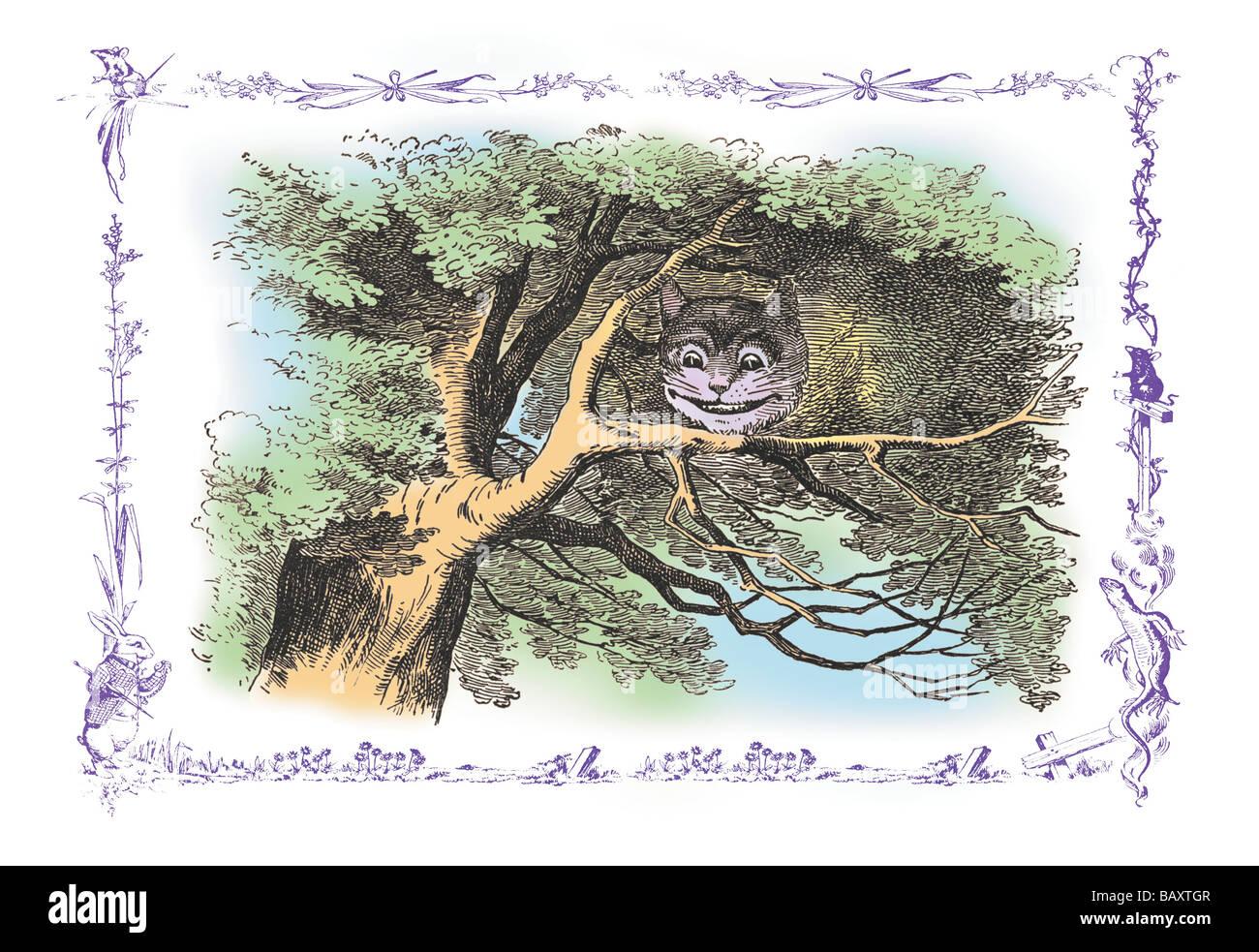 Alice in Wonderland: The Cheshire Cat - Stock Image