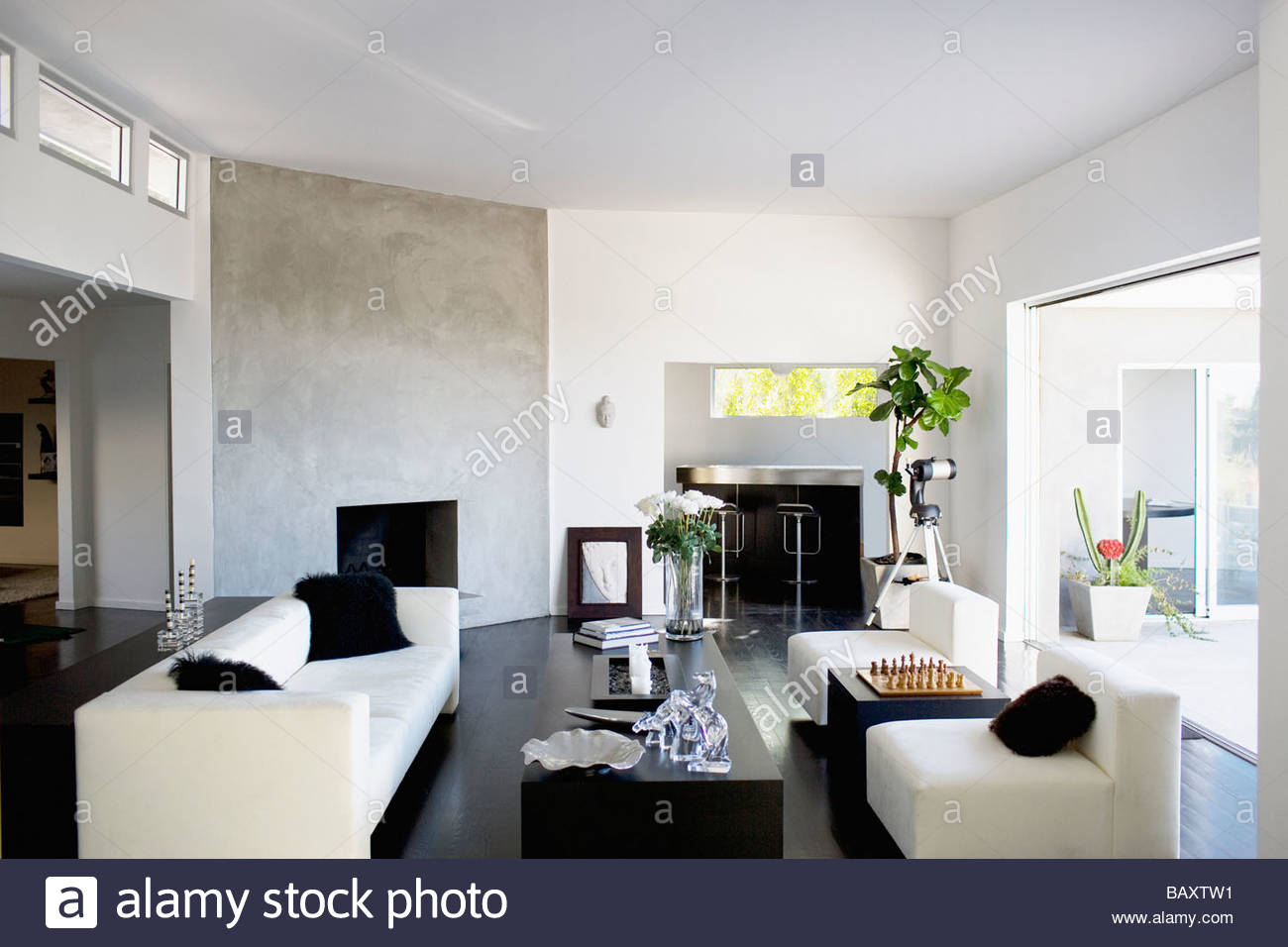 Interior of modern living room Stock Photo