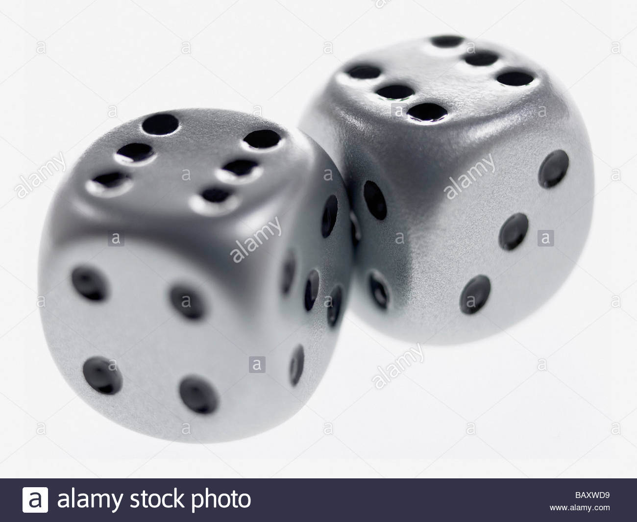 Close up of two dice - Stock Image