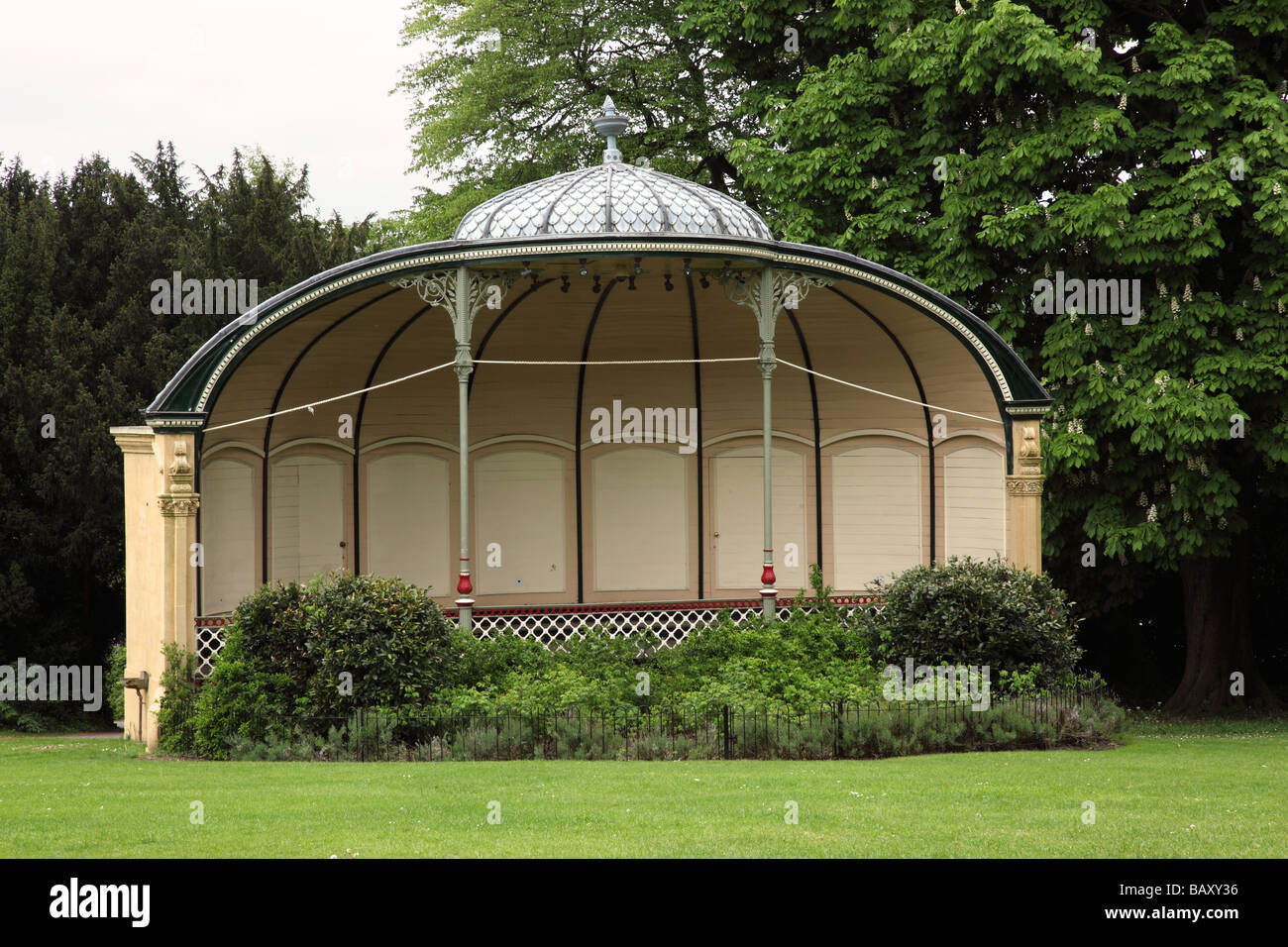 Royal Victoria Park Bandstand, Bath, England - Stock Image