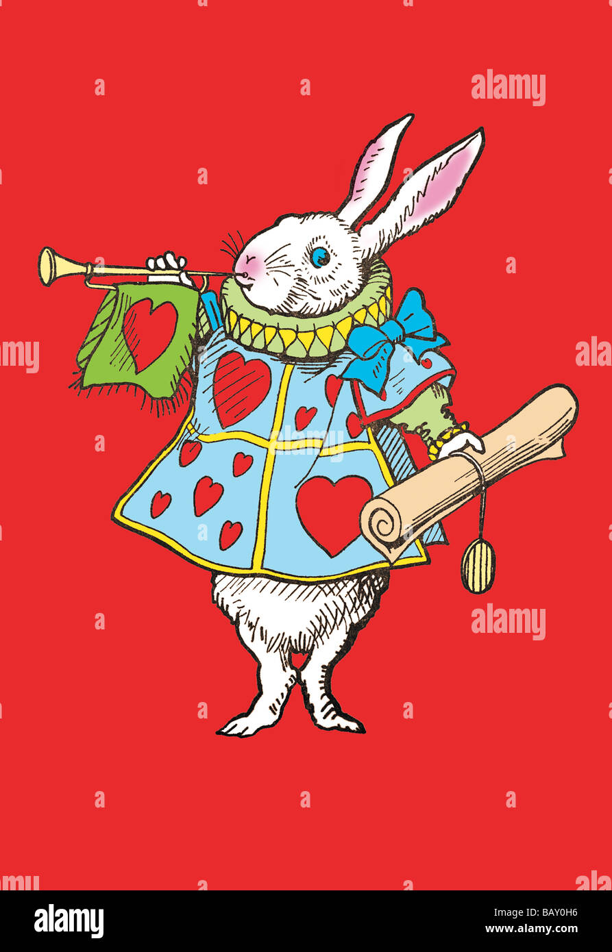 Alice in Wonderland: Horn and Hearts - Stock Image