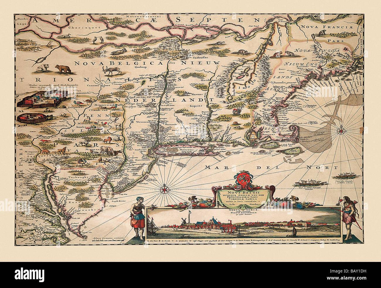 1656 Novi Belgii Novaeque Angliae...