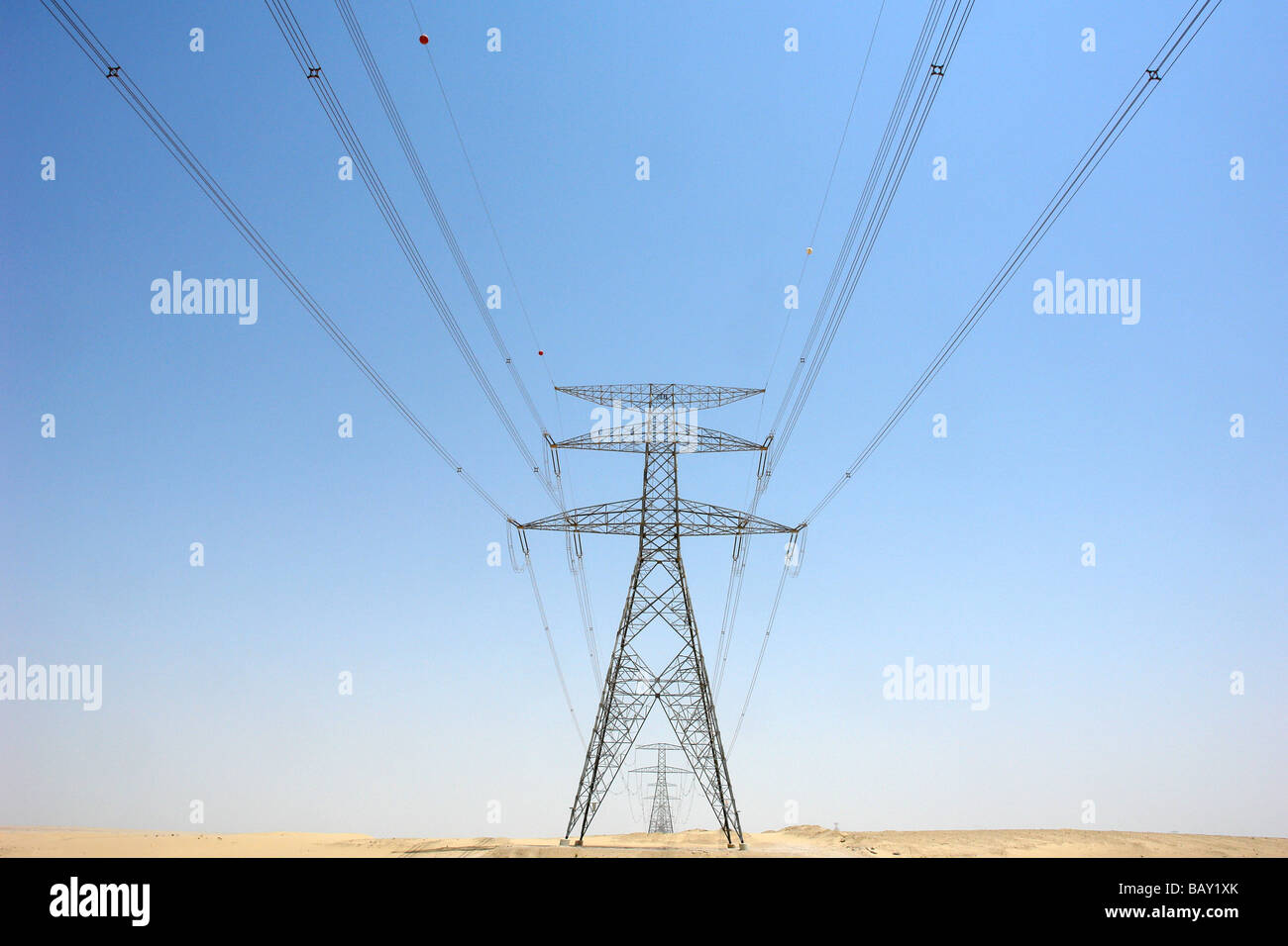 High Voltage Power Supply Lines Energy Dubai United Arab Emirates Uae