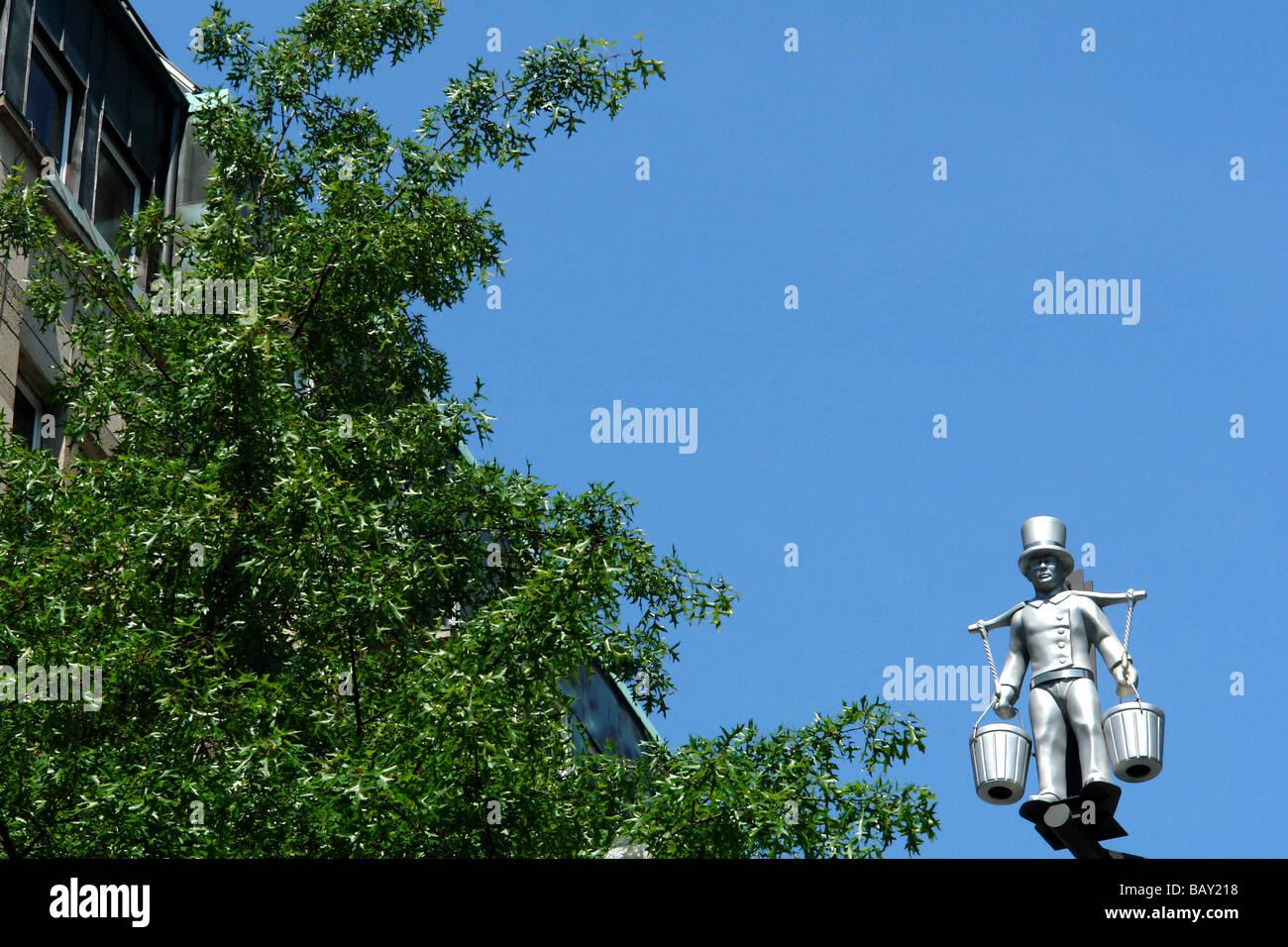 Hans Hummel memorial, Hamburg, Germany - Stock Image