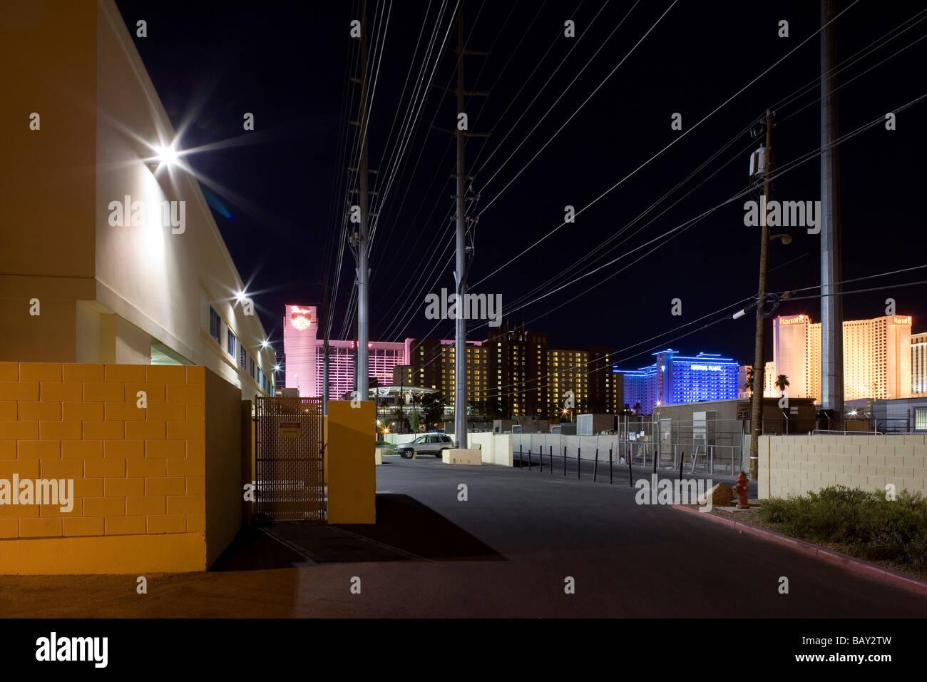 Parking Spaces, Backyard Of The Las Vegas Casinos, Las Vegas, Nevada, USA