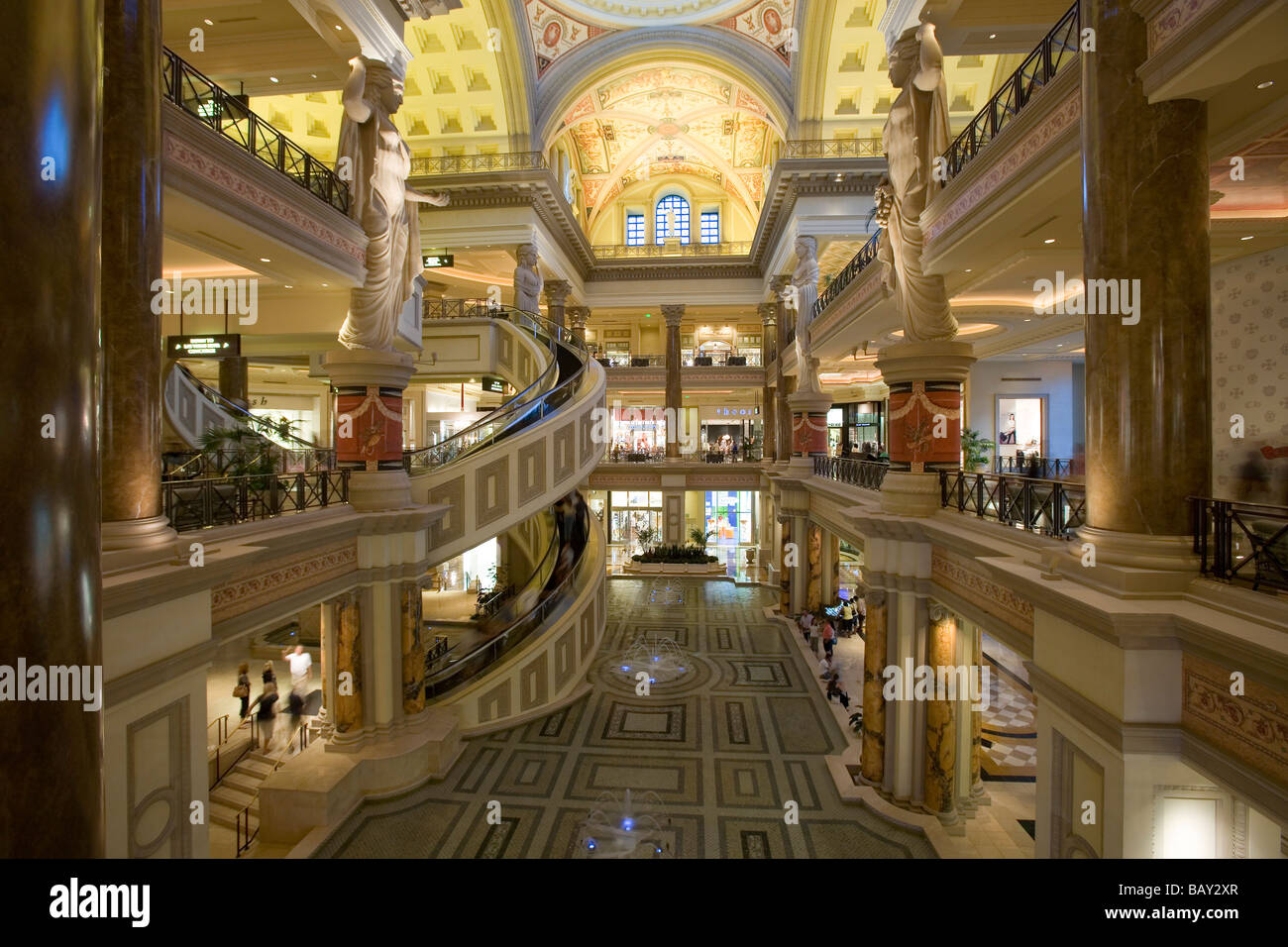 The Forum Shops at Caesars Palace in Las Vegas, Las Vegas, Nevada, USA Stock Photo