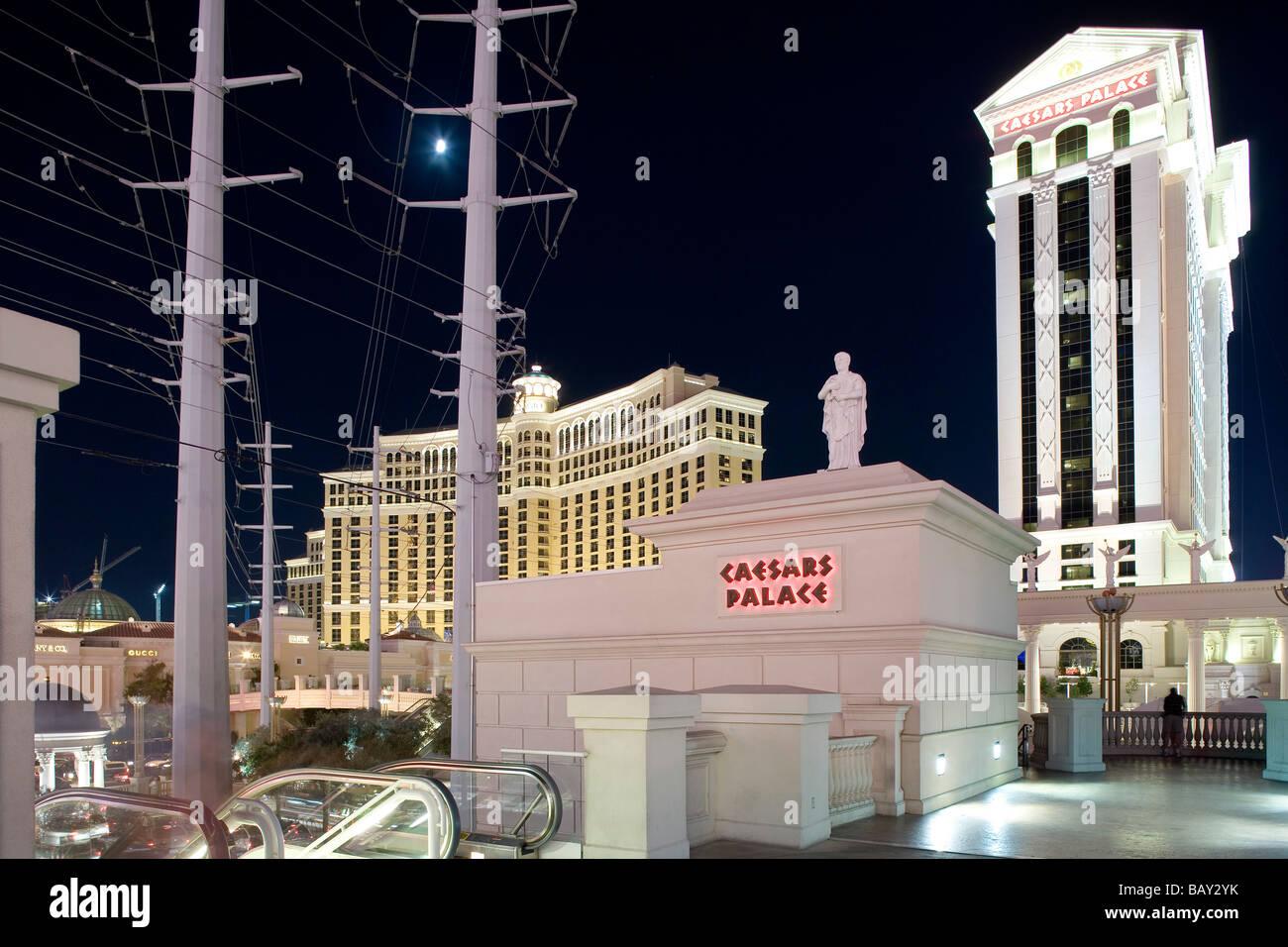 Caesars Palace Hotel and Casino in Las Vegas, Las Vegas, Nevada, USA - Stock Image