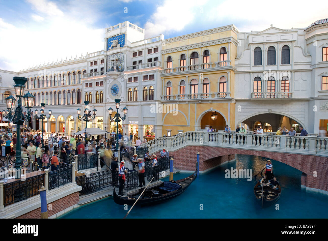 Grand Canal at the Venetian Hotel in Las Vegas, Nevada, USA - Stock Image