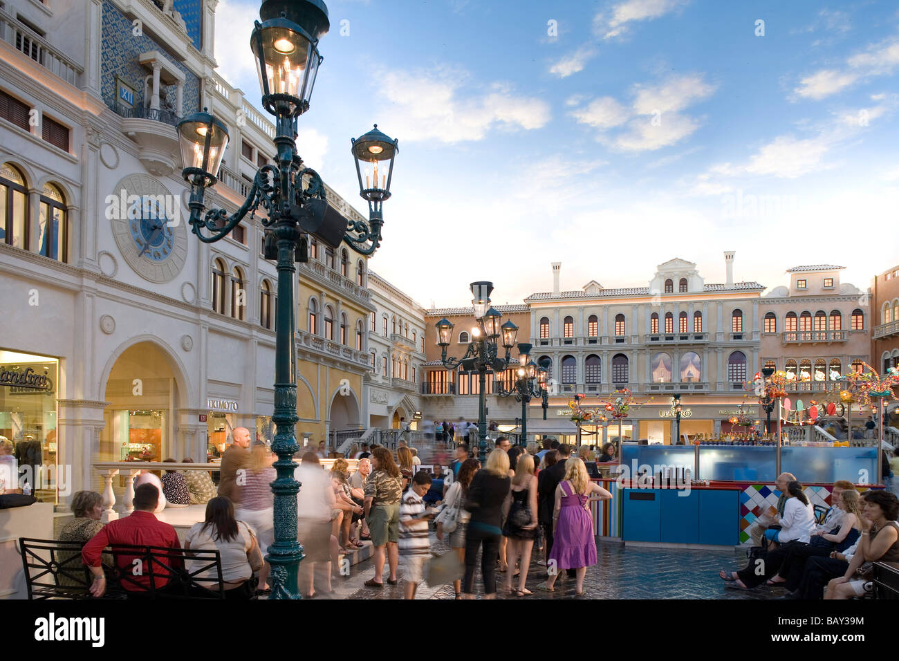 St Mark's square at the Venetian Hotel in Las Vegas, Nevada, USA - Stock Image