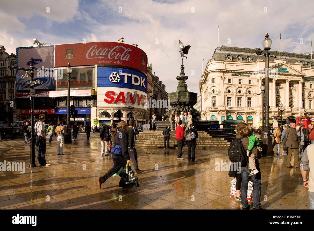 Picadilly Circus, London, England, Europe - Stock Image