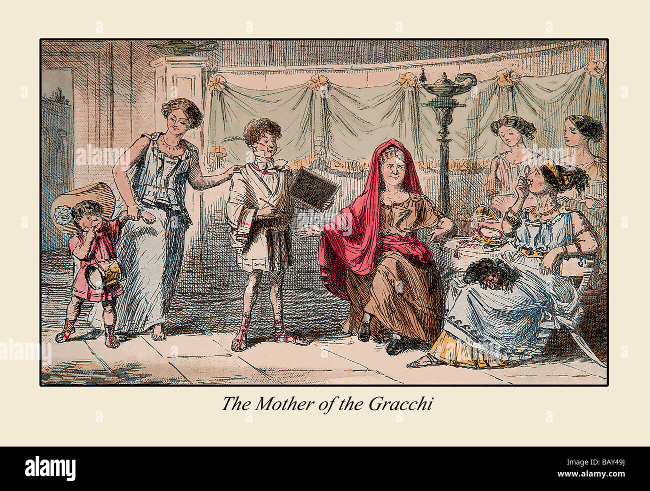 The Mother of the Gracchi - Stock Image