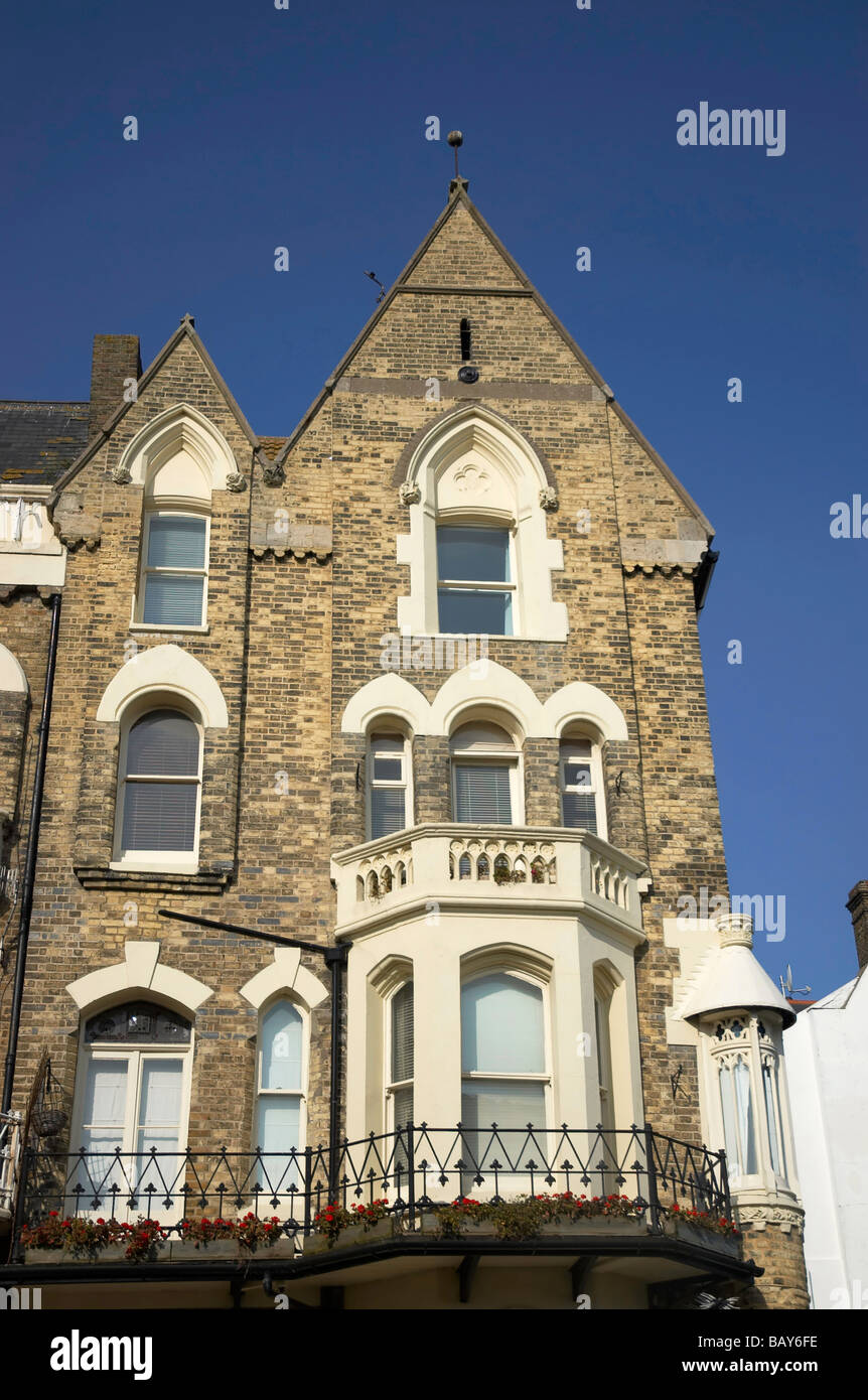 A row of victorian townhouses in England - Stock Image
