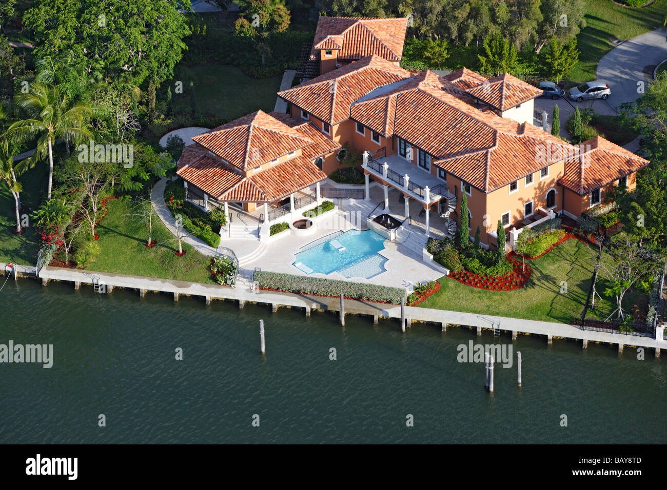 Luxurious homes in Coral Gables, Miami, Florida, United States of America, USA - Stock Image