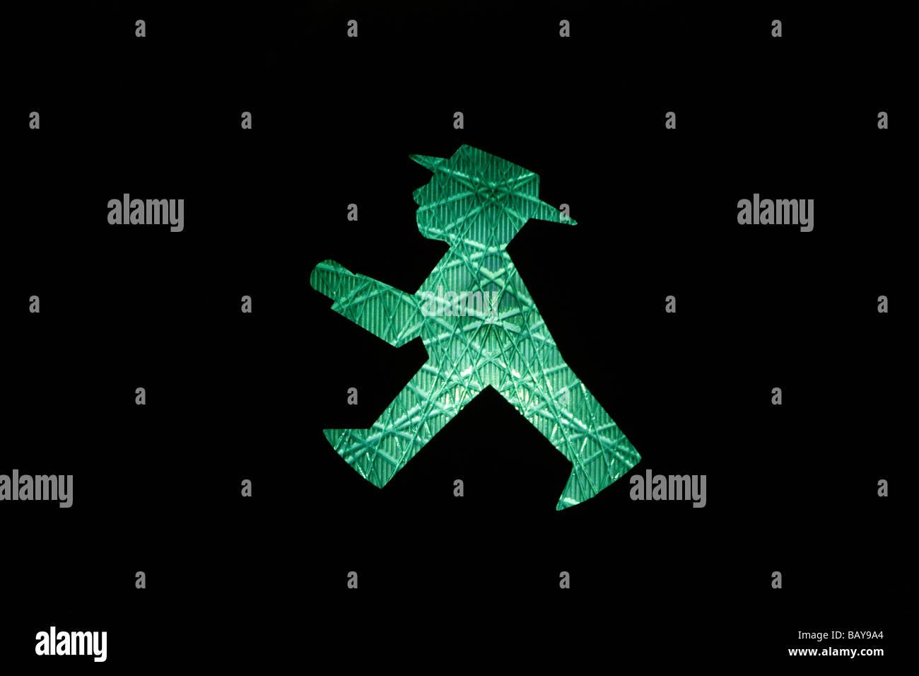 Traffic lights, green, walk, Germany - Stock Image