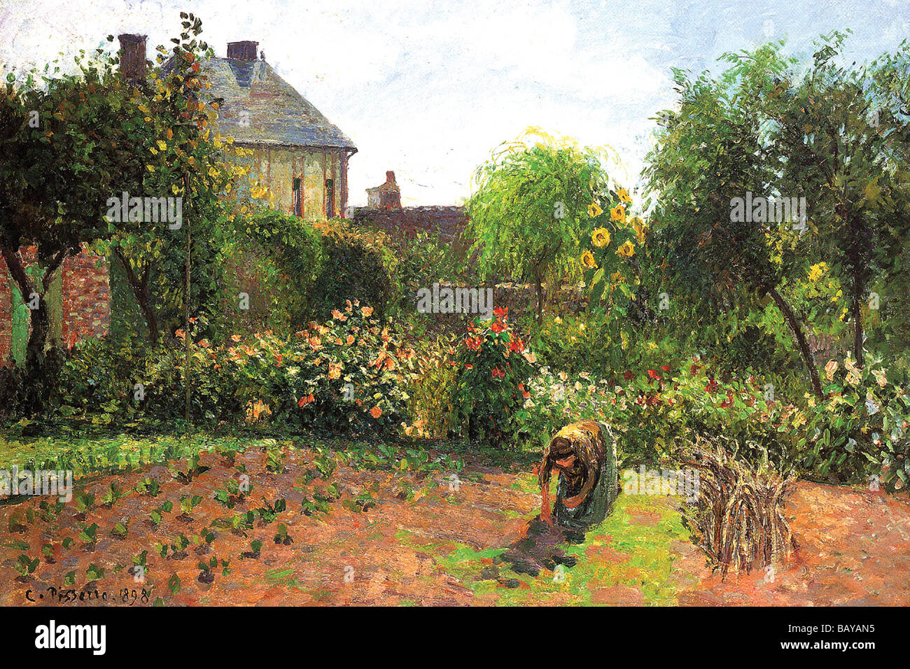 The Artist Garden at Eragny - Stock Image