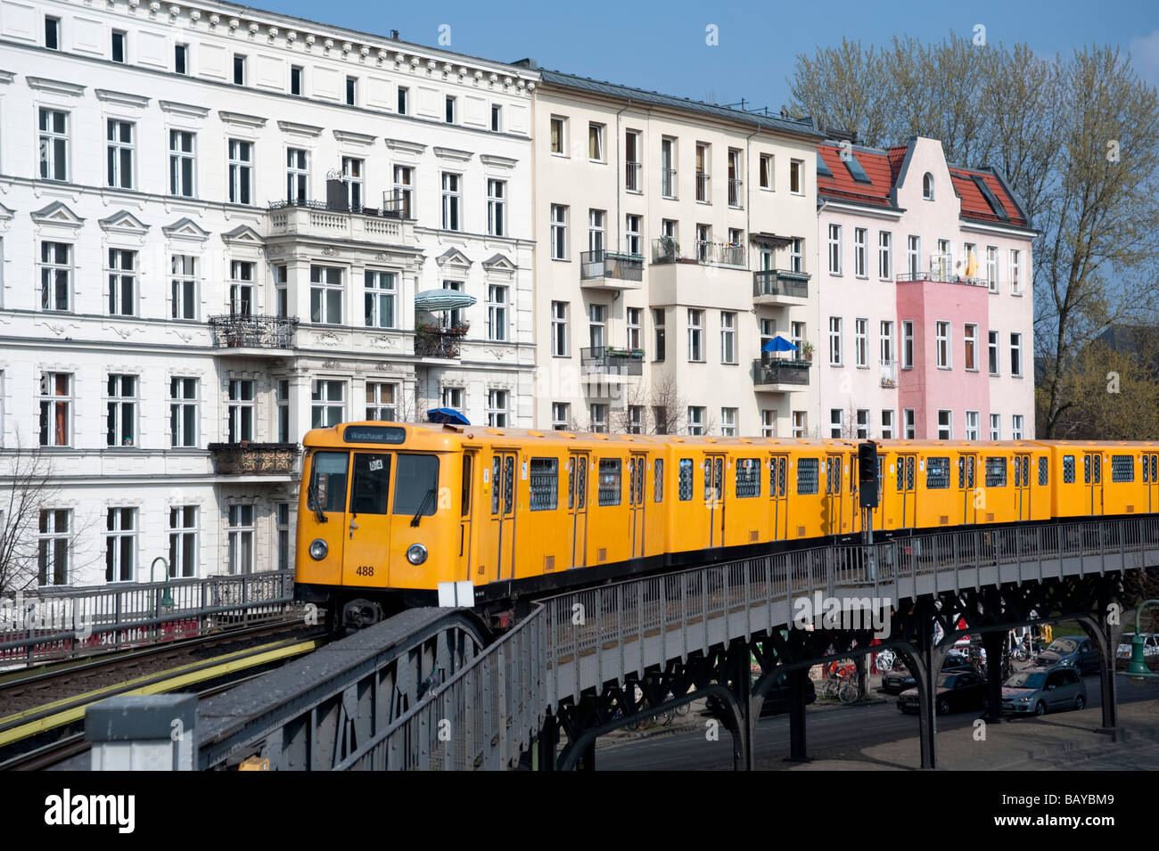 Elevated Section Of Berlin S Bahn Railway In Kreuzberg Berlin Stock
