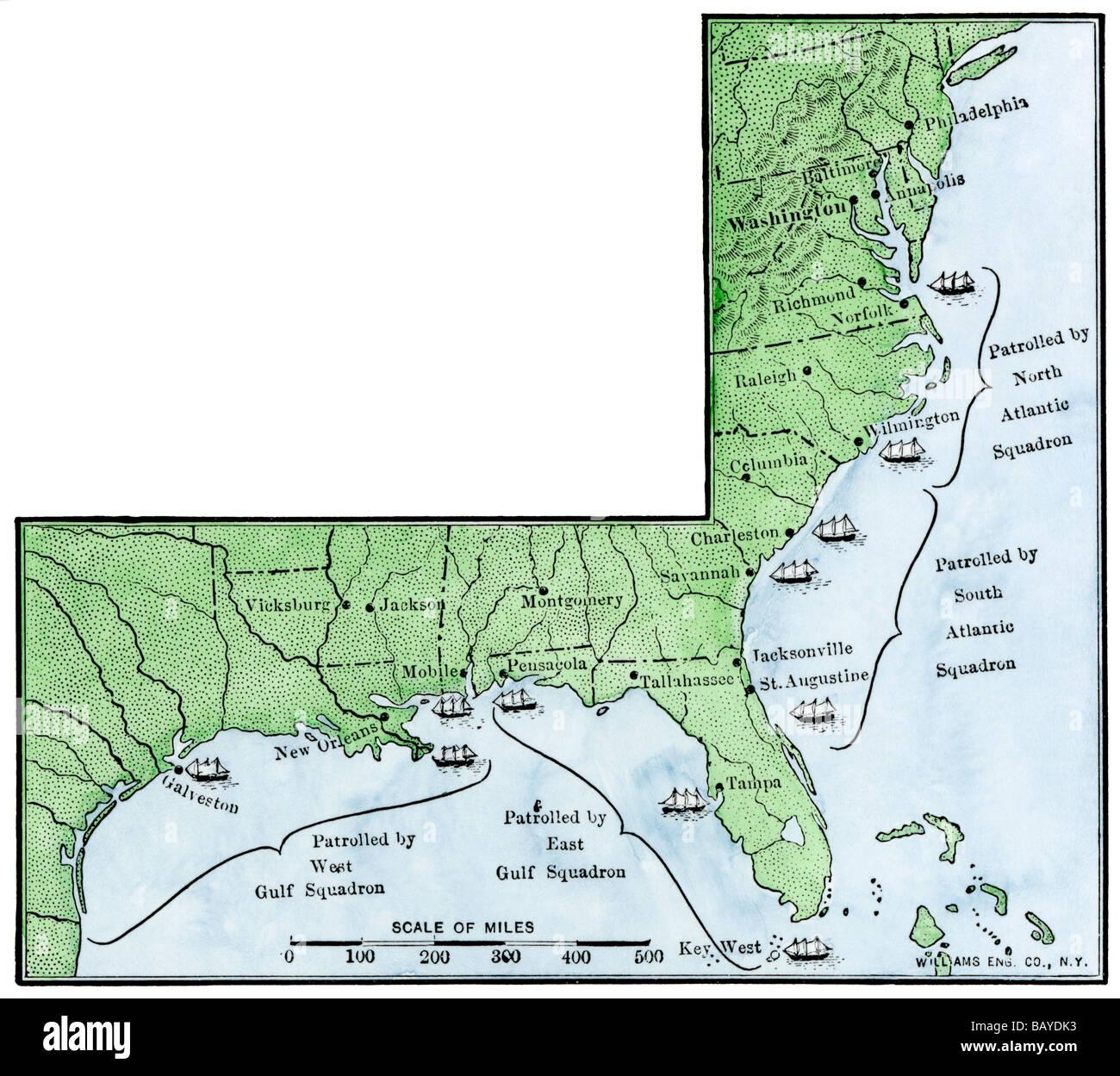 Us Civil War Stock Photos Us Civil War Stock Images Alamy - Us-map-civil-war-era
