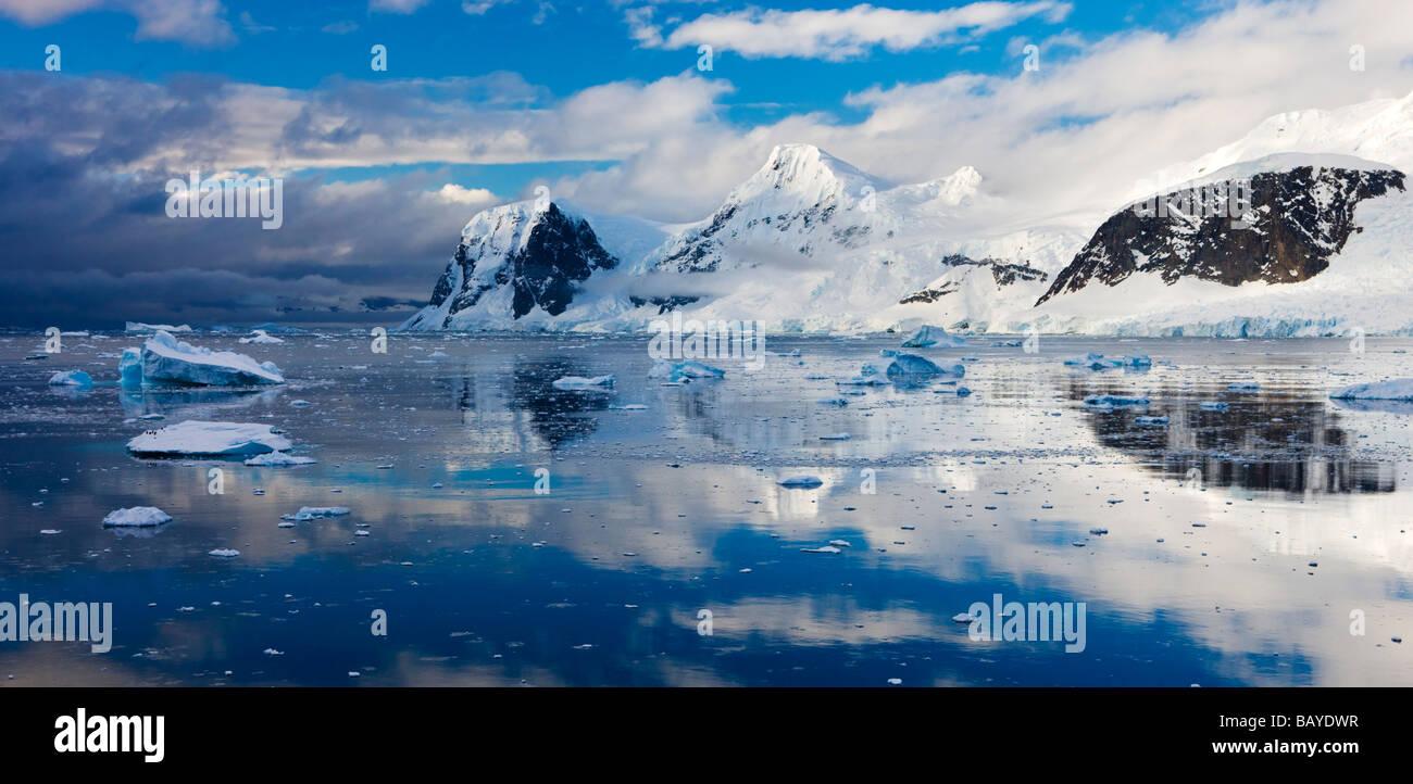Gerlache Strait Antarctic Peninsula Antarctica December 2007 - Stock Image