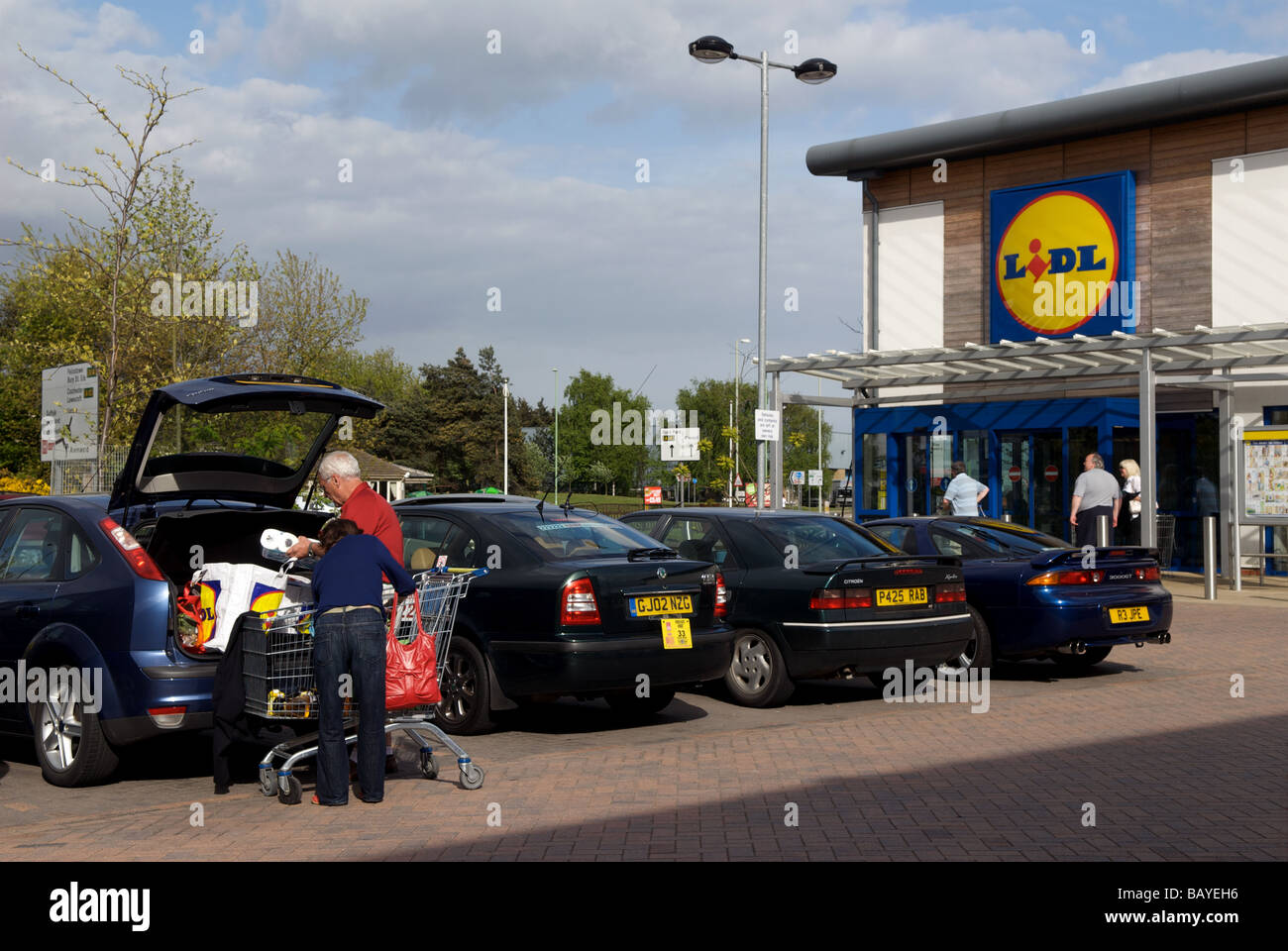 Lidl supermarket, Ipswich, Suffolk, UK. - Stock Image