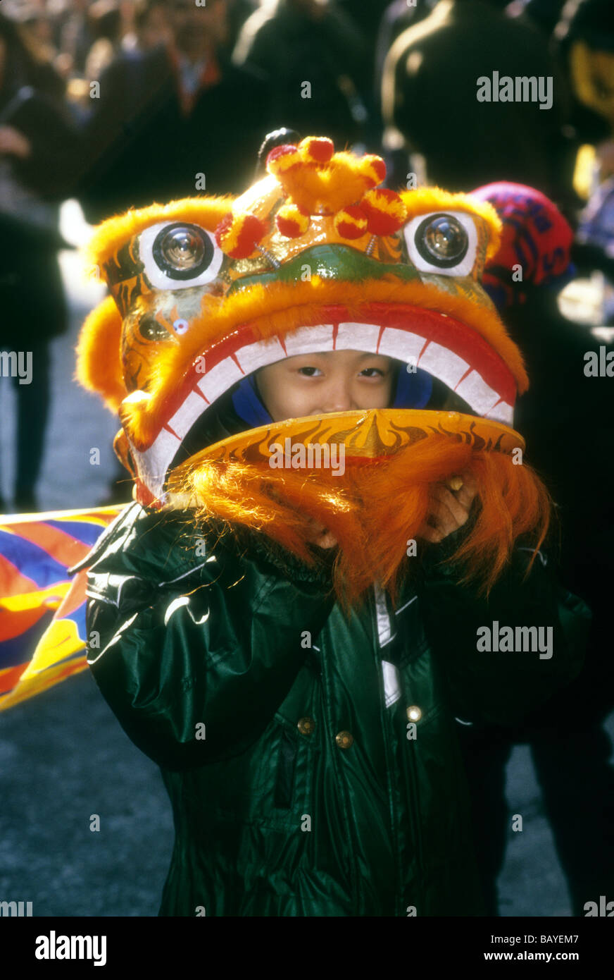 Chinese New Year s celebration in Chinatown in New York - Stock Image