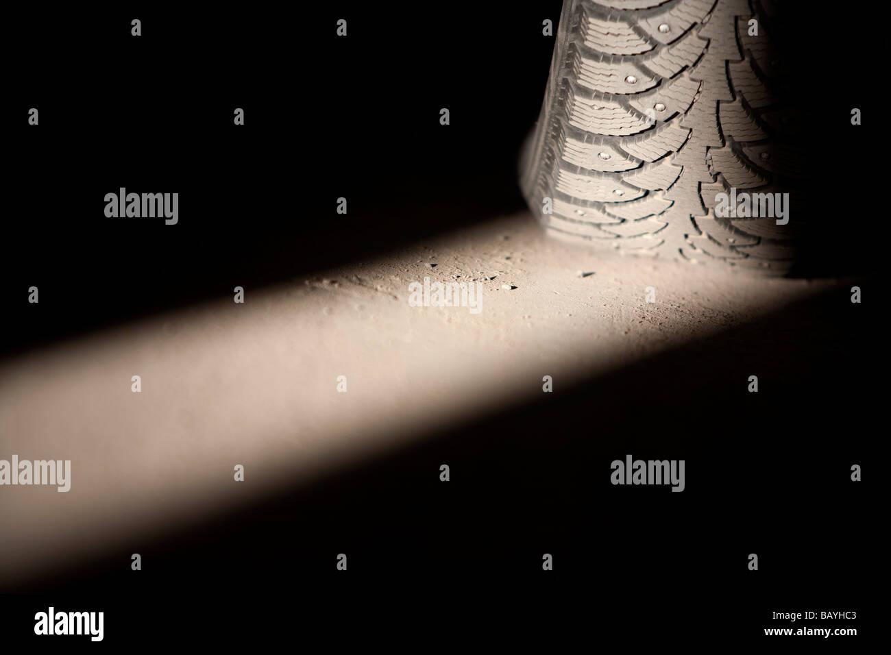 Car winter tire - Stock Image