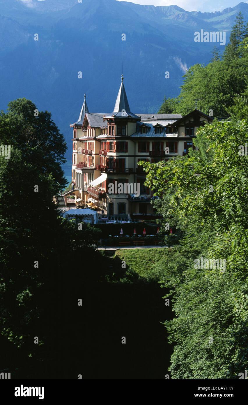 Grand Hotel Giessbach near Brienz Switzerland Stock Photo
